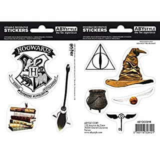 ABYstyle - Harry Potter - Stickers - 16x11cm - Objets Magiques
