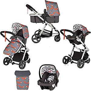 Cosatto Giggle Mix Pram and Pushchair in Mister Fox with Hold Car seat & Raincover   9