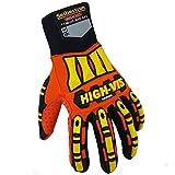 Seibertron Hoch/HIGH Vis Impact Safety Mechaniker Schutz Builders Handschuhe Glove, Aufprallschutz und robuste Arbeitshandschuhe Montagehandschuhe (abriebbeständig, rutschfest, waschbar) (M)
