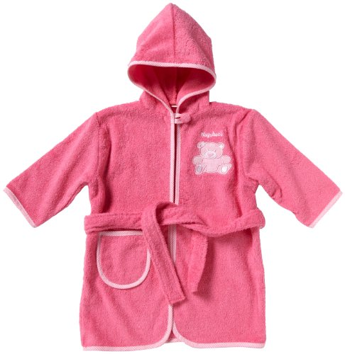Playshoes Frottee-Bademantel 340101 Mädchen Babybekleidung/ Bademntel, Gr. 98/ 104 Pink (pink 18)