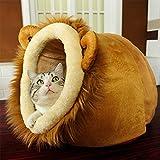 LA VIE Haustier-Höhle Süßes Katzenbett Waschbar Hunde-Höhle Weiches und Bequemes Stoff Cat Nistkasten Bett mit Abnehmbares Kissen für Kleiner Hunde Katzen Löwe XXL