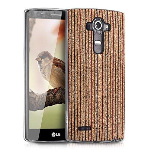 Kwmobile lg g4 cover - custodia in silicone tpu back case protezione per lg g4 rosso/blu/marrone chiaro