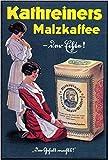 LegendArte Poster pubblicitario Kathreiners Malz-Kaffee, Stampa su Metallo cm. 30x40