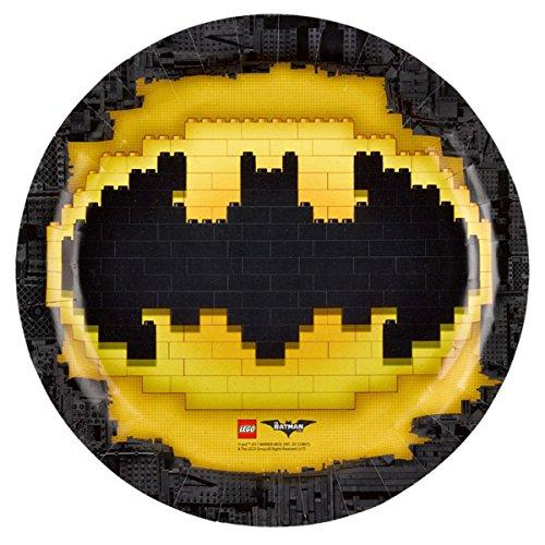 Preisvergleich Produktbild 8 Teller * LEGO BATMAN * von DC Comics für Kindergeburtstag oder Mottoparty // Plates Pappteller Partyteller Superheld