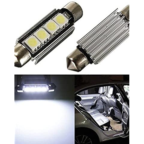 2 x Auto Dome 5050 SMD LED lampadina luce interna Led festone 42MM,Bianco