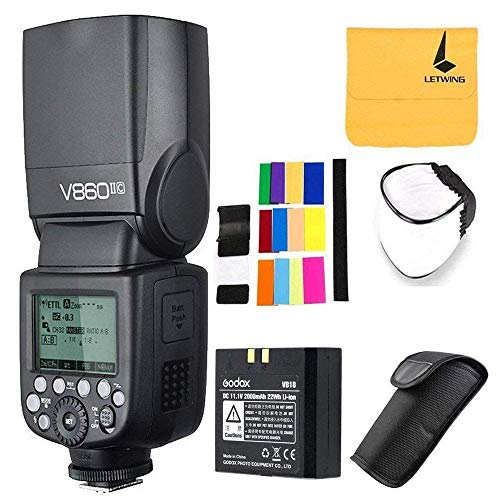 Godox V860IIC TTL Blitz 2.4G Drahtlose E-TTL II Li-on Akku Kamera Blitz Speedlite für Canon Kamera 6D 50D 60D 1DX 580EX II 5D Mark II III (V860II-C)