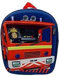 Sam Le Pompier - Fireman Sam - Enfants Sac à dos - Optique 3D Jupiter 30x24x10cm