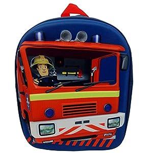 Sam El Bombero - Fireman Sam - Niños Mochila - Óptica 3D Jupiter1 gran compartimento principal con cierrecorreas de hombro acolchadas y ajustablesFrente con Fireman Sam tema en Óptica 3Dfácil de limpiar con un paño húmedoMaterial: PoliésterTamaño: Al...