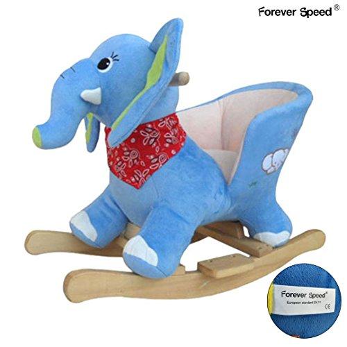 Forever Speed Kinder Schaukelpferd Sound Plüsch Schaukel Schaukeltier Elephant