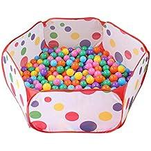 Newcomdigi Plegable Piscina de Bola de Juego Poliéster Piscina de Pelota Tienda de Juego para Niños y Infantiles Diametro de 1 m Sin Pelotas