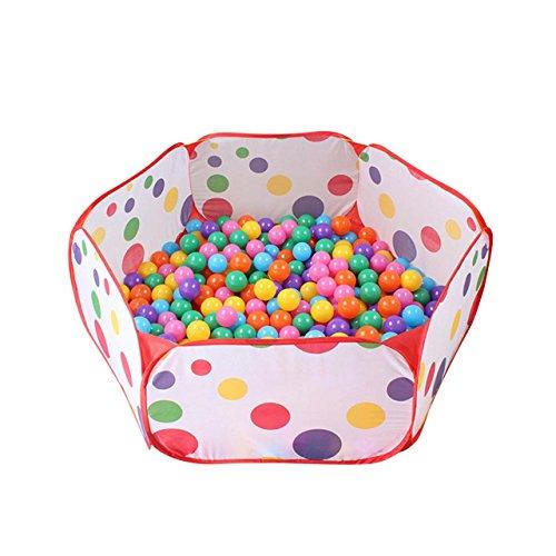 Newcomdigi Piscina di Palline Ball Pit Pool Bambini Tenda Gioca Piscina per Bambini Pieghevole Pop-up Palline non Incluse - senza Mini Canestro
