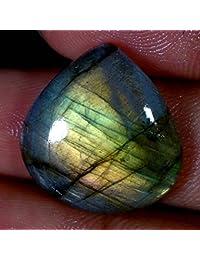 21.55cts 100% natural Multi Color Morado De Labradorita corazón Cab Top gemas