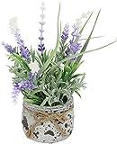 Kunstpflanze Lavendel im Topf 18cm