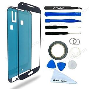 Front Glas für Samsung Galaxy J7 Duos SM J700 (2015) Series Display Touchscreen mit 12 tlg. Werkzeug-Set / passgenauem PreCut Sticker / Pinzette / Rolle 2mm Klebeband / Saugnapf / Metall Draht / Mikrofasertuch MMOBIEL