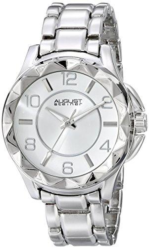 August Steiner analógico pantalla Mujer Plata de cuarzo japonés reloj