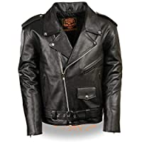 Milwaukee Leather Men's Classic Police Style M/C Jacket - Lkm1781-Black X-Large Black