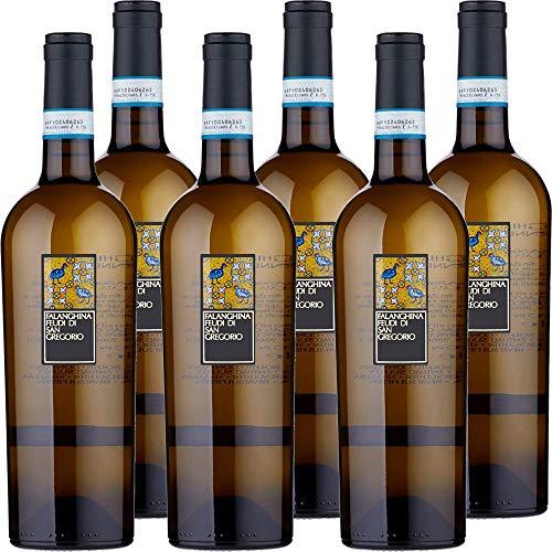 Falanghina feudi di san gregorio   confezione da 6 bottiglie da 75 cl   vino bianco   i vini della campania   idea regalo