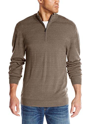 Cutter & Buck Herren Pullover Douglas Quarter Zip Big/Tall - Braun - 4X-Large -
