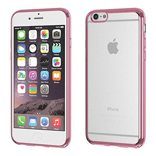iPhone 8+ Hülle / iPhone 7+ Case - EAZY CASE Chrom Cover für Apple iPhone 7 Plus & iPhone 8 Plus - Edles Smartphone Case als Schutzhülle Metallic Design in Silber Pink