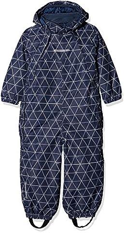 NAME IT Baby-Jungen Schneeanzug Nitstorm Snowsuit Aop MZ B FO, Mehrfarbig (Dress Blues), 104
