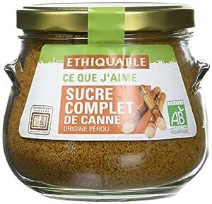 Ethiquable Sucrier Sucre Complet de Canne Poudre Madagascar Bio et Équitable en 500 g Ecocert Equitable - Lot de 3