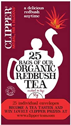 Clipper Organic Rooibos Tea Fairtrade Caffeine-free with Antioxidants Teabags Ref A06953 [Pack 25]
