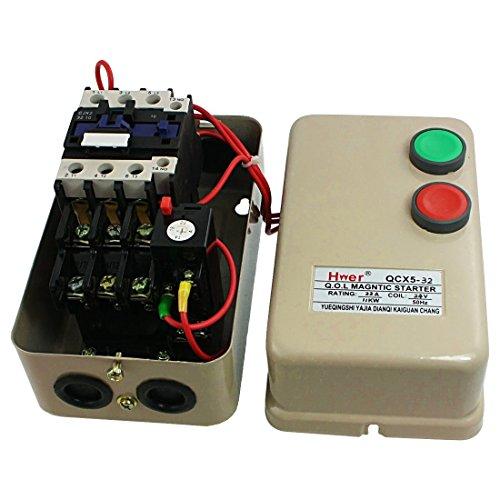 DealMux Amico 24V AC Coil Schütz 15 HP 3 Three Phase Magnetic Starter Motor Control 14-22A - Motor Starter Schütz