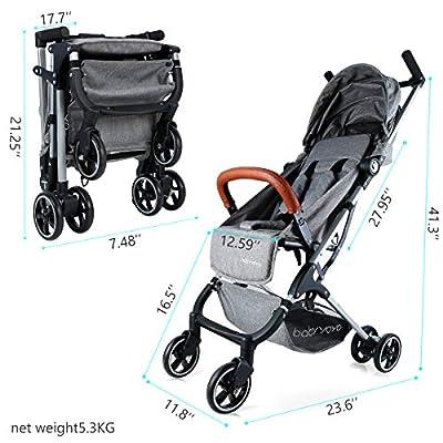 Kinderwagen Kombikinderwagen Leichte Sitzbuggys Klappbar Kinderbuggy Sportwagen Buggy Babyschale Grau ...