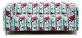 Artefly Klippan Sofabezug Design STRIPES mit Kissen Bezug passend für Ikea Klippan Zweisitzer