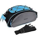 PsmGoods® Radfahren Fahrrad Gepäckträgertasche vorne Pannier Multifunktionale Bike Bag für Füllend (Blau)