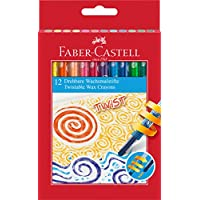 Faber-Castell 120003 Twistable Wax Crayons (Pack of 12)