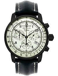 Zeppelin Unisex-Armbanduhr Chronograph Quarz Leder 7680-3