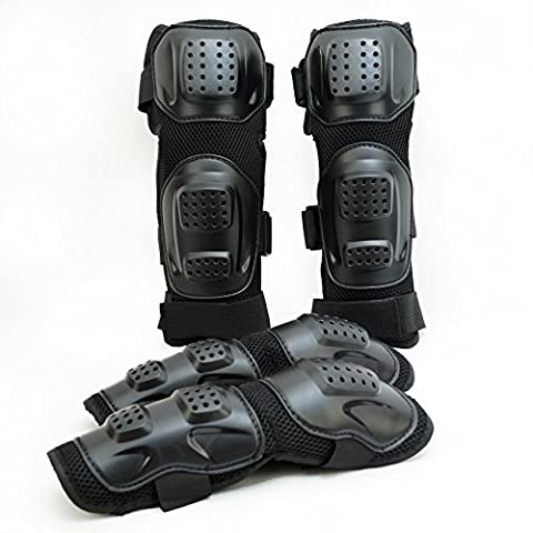 Fincci Knee and Elbow Protection Guard Pads for Outdoor Sports Motorcycle Motocross Bike Skate
