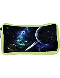 Snoogg Eco Friendly Canvas Solar Rays Designer Student Pen Pencil Case Coin Purse Pouch Cosmetic Makeup Bag