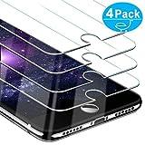 Beikell [Pacco da 4] Pellicola Protettiva in Vetro Temperato per iPhone 8/7/6s/6 - Durezza 9H, Anti graffio, Senza Bolle, Alta Definizione, Facile da Pulire