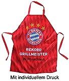 FC Bayern München Grillschürze mit Ihrem kostenlosen Wunschtext