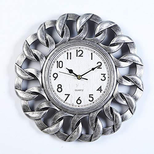 496e8a8a3b1 wall clocks Indoor 10-inch wall clock bedroom clock round clock - silver