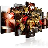 murando - Acrylglasbild Abstrakt 200x100 cm - 5 Teilig - Glasbilder - Wandbilder XXL - Wandbild - Bilder - Weltkarte Abstrakt k-A-0017-k-o