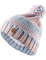 Strickmütze OUTHORN CAD606 gestrickte Bommelmütze für Damen   Wintermütze mit Bommel und Fleece Innenband   Pompon (, )