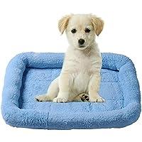 Fácil de limpiar lavable perro gato mascota cama Cachemira suave cómodo rectangular acolchado mascota cama cojín