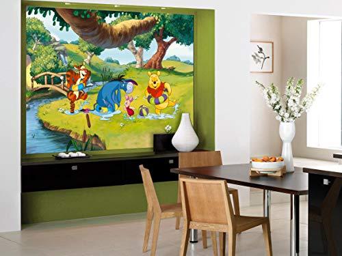AG Design Ftdm 0709 Photo Wallpaper-Adesivo da Parete Adesivo da Parete, Motivo: Carta da Parati con Foto Omurals Disney Winnie The Pooh