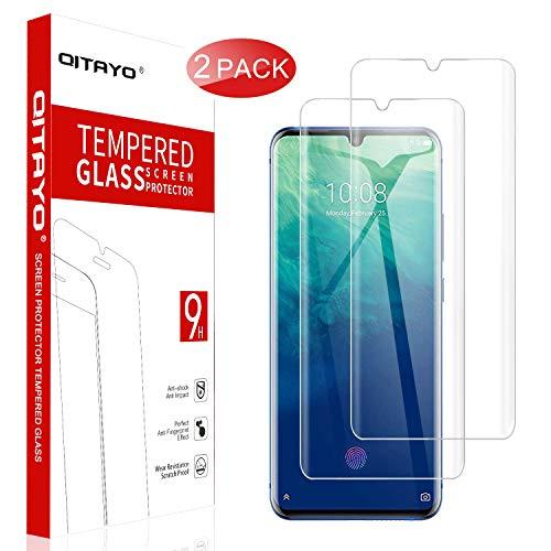QITAYO Panzerglas Schutzfolie für ZTE Axon 10 Pro 5G 2019[2 Stück] [2.5D Rand][Blasenfrei] [Anti vor Fingerabdruck] ZTE Axon 10 Pro 5G 2019 Folie Glas Bildschirmschutzfolie