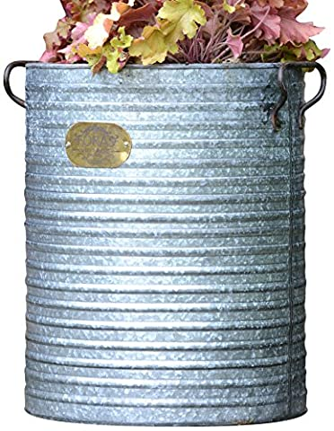 Premium Zinc, Vintage Style Dolly Tub Planter/Container, Available in 3 sizes