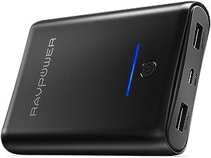 Caricatore Portatile RAVPower 10000mAh Power Bank, Batteria Compatta da 10000 con Potenza 3.4A, Elevata Velocità Ricarica, Due Porte USB iSmart 2.0, Caricabatteria Portatile per Smartphone e Tablet