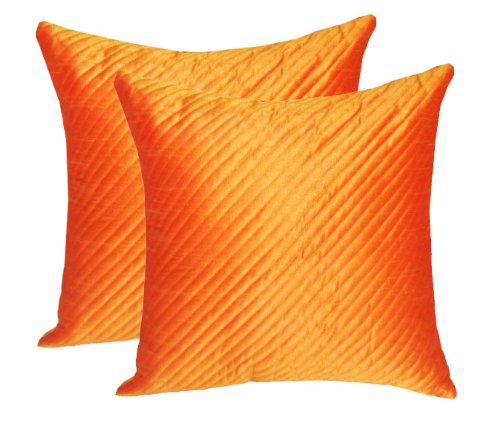 Zikrak exim quilting cushion cover orange 2 pcs set 40 x 40 cm