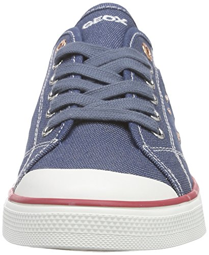 Geox Jr Ciak E, Baskets Basses Fille Blau (JEANSC4001)