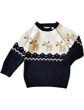YuanDian Baby Unisex Pullover Stricken Weihnachten Langarm Elche Warme Sweater Pullis