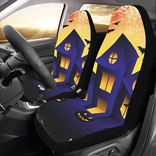 nted House Spooky Friedhof Benutzerdefinierte Universal Fit Auto Autositzbezüge Protector Für Frauen Automobil Jeep LKW SUV Fahrzeug Full Set Zubehör Für Erwachsene Baby Set Von 2 ()