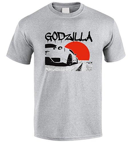 NISSAN GTR SKYLINE GT-R R38 Drift Racing Tuning JDM Fan T Shirt S/M/L/XL/XXL (XL, Grey)
