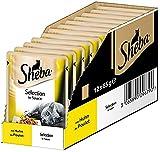 Sheba Adult Katzen-/Nassfutter, für erwachsene Katzen Selection in Sauce, mit Huhn, 12 Portionsbeutel (12 x 85 g)